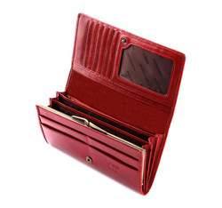 Damski portfel ze skóry lakierowany poziomy, czerwony, 25-1-075-3, Zdjęcie 1