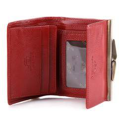 Damski portfel ze skóry na bigiel mały, czerwony, 21-1-059-3, Zdjęcie 1