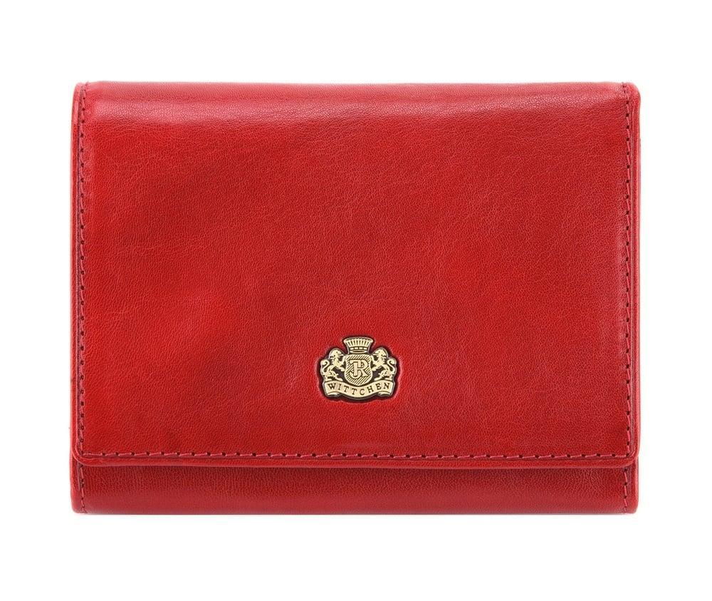 Портмоне Wittchen 10-1-070-3, красныйКошелек женский среднего размера, сделан из прочной слегка глянцевой телячьей кожи, логотип- металический значок с гербом WITTCHEN в цвете старого золота. Идеален для женщин ценящих стильный дизайн и удобство в использовании. Портмоне имеет подарочную упаковку фирменный логотип WITTCHEN, дополнительно прилагается индивидуальный Сертификат Подлинности, который является гарантией оригинальности и высокого качества продукции.  Портмоне состоит:    отделение для монет    карманчик для купюр    6 мест для кредитных карт    8 карманов, 1 прозрачный и 1 на молнии<br><br>секс: женщина<br>материал:: натуральная кожа<br>высота (см):: 9<br>ширина (см):: 12