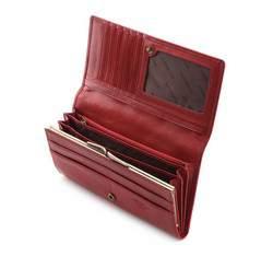 Damski portfel ze skóry z herbem duży, czerwony, 10-1-075-3, Zdjęcie 1