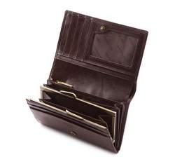 Damski portfel skórzany z herbem średni, brązowy, 10-1-081-4, Zdjęcie 1