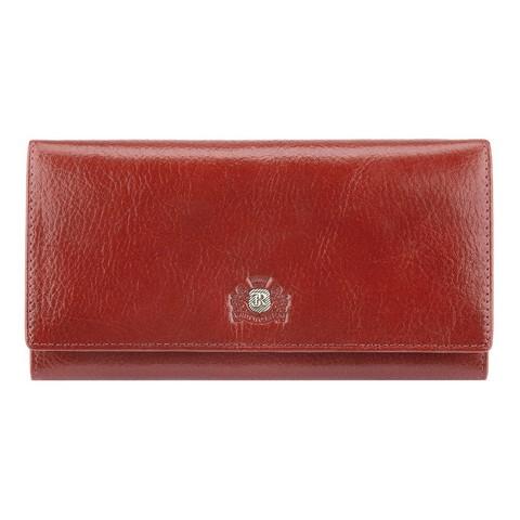 Damski portfel ze skóry z herbem duży, ceglasty, 22-1-075-3, Zdjęcie 1