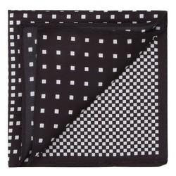 Poszetka, czarno - biały, 87-7P-001-X1, Zdjęcie 1
