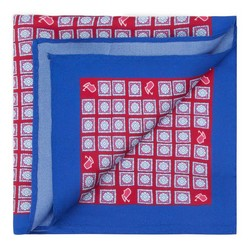 Men's pocket square, red-blue, 87-7P-001-X4, Photo 1