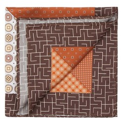 Men's pocket square, orange-brown, 87-7P-001-X5, Photo 1