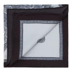 Poszetka, szaro - czarny, 87-7P-002-X3, Zdjęcie 1