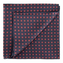 Pocket square, navy blue-red, 89-7P-001-X3, Photo 1