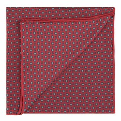 Pocket square, red-navy blue, 89-7P-001-X5, Photo 1