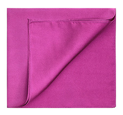 Men's pocket square, fuchsia, 83-7P-100-F, Photo 1