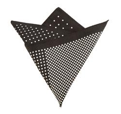 Poszetka, czarno - biały, 85-7P-X01-X12, Zdjęcie 1