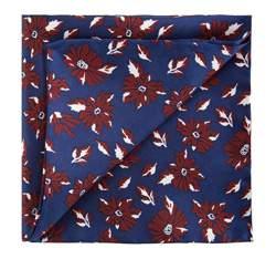 Men's pocket square, navy blue-brown, 82-7P-001-7, Photo 1