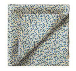 Poszetka, żółto - niebieski, 83-7P-101-X3, Zdjęcie 1