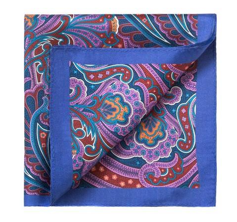 Poszetka, niebiesko - fioletowy, 83-7P-101-X5, Zdjęcie 1