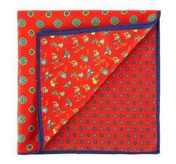 Men's pocket square, red, 81-7P-P11-3, Photo 1