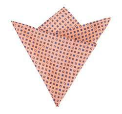 Poszetka, pomarańczowo - brązowy, 82-7P-004-Y, Zdjęcie 1