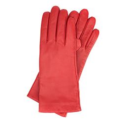 Rękawiczki damskie, czerwony, 39-6-200-2T-L, Zdjęcie 1