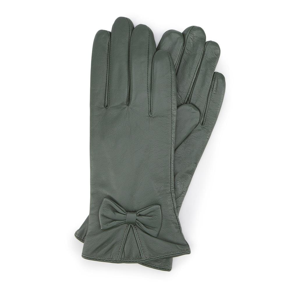 Dámske rukavice v khaki prevedení.