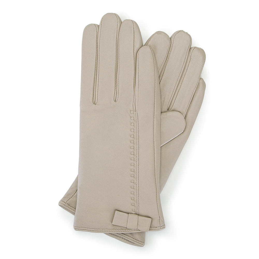 Перчатки женские Wittchen 39-6-551-6A, бежевыйПерчатки женские Wittchen 39-6-551-6A, бежевый<br><br>секс: женщина<br>Цвет: бежевый<br>Размер INT: L<br>материал:: Натуральная кожа