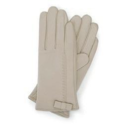 Rękawiczki damskie, beżowy, 39-6-551-6A-X, Zdjęcie 1