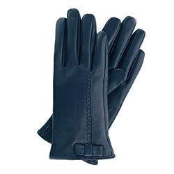 Rękawiczki damskie, granatowy, 39-6-551-GC-M, Zdjęcie 1