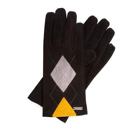 Rękawiczki damskie, czarny, 39-6-555-1-V, Zdjęcie 1
