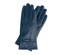 Rękawiczki damskie, granatowy, 39-6-558-GC-S, Zdjęcie 1