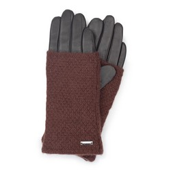 Rękawiczki damskie, ciemny brąz, 39-6-563-BB-L, Zdjęcie 1