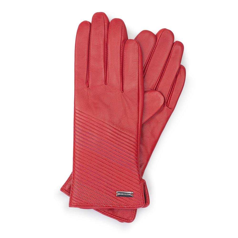 44c3107c320a1 Ocieplane rękawiczki damskie ze skóry naturalnej | WITTCHEN | 39-6-567