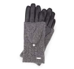 Rękawiczki damskie, czarny, 39-6-570-1-X, Zdjęcie 1