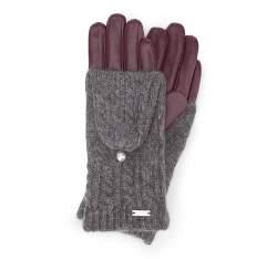 Rękawiczki damskie, bordowy, 39-6-570-BD-S, Zdjęcie 1