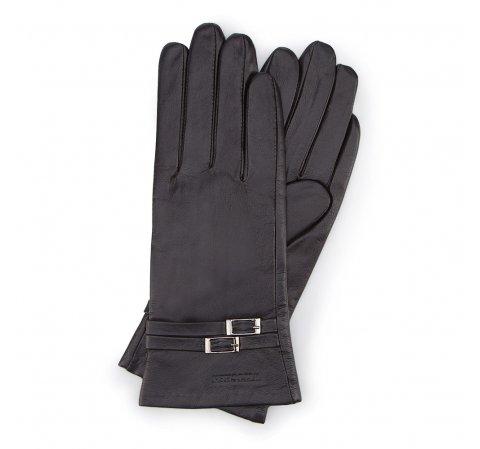 Rękawiczki damskie, czarny, 39-6-573-1-L, Zdjęcie 1