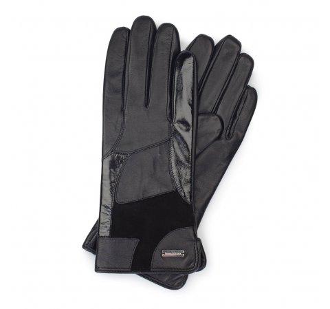 Rękawiczki damskie, czarny, 39-6-575-1-M, Zdjęcie 1