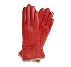 Rękawiczki damskie, czerwony, 44-6-514-2T-L, Zdjęcie 1