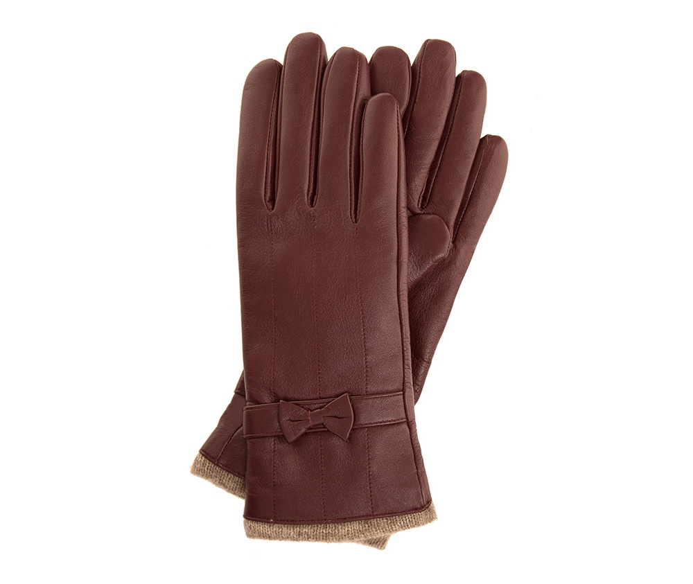 Перчатки женские Wittchen 44-6-514-BD, бордовыйПерчатки женские<br><br>секс: женщина<br>Цвет: красный<br>Размер INT: M<br>материал:: Натуральная кожа