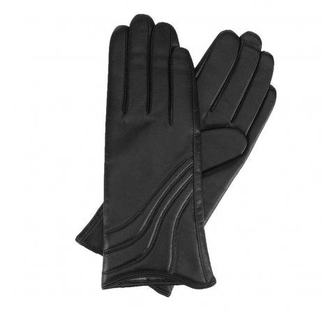 Женские кожаные перчатки с декоративной строчкой 44-6-526-1