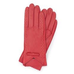 Rękawiczki damskie, czerwony, 45-6-236-2T-S, Zdjęcie 1