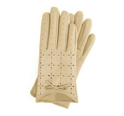 Women's gloves, cream, 45-6-519-A-M, Photo 1