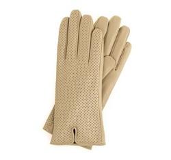 Rękawiczki damskie, beżowy, 45-6-520-6A-M, Zdjęcie 1