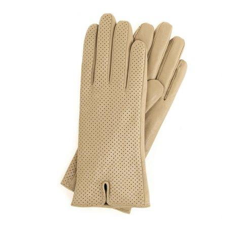 Rękawiczki damskie, beżowy, 45-6-520-6A-V, Zdjęcie 1