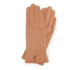 Rękawiczki damskie, camelowy, 45-6-520-LB-L, Zdjęcie 1