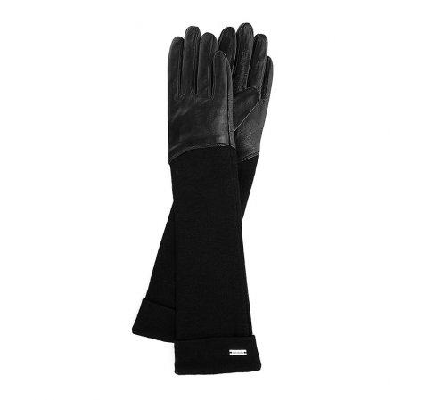 Rękawiczki damskie, czarny, 45-6-521-1-V, Zdjęcie 1