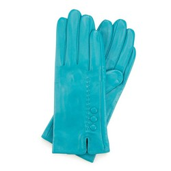 Women's gloves, turquoise, 45-6-524-TQ-M, Photo 1
