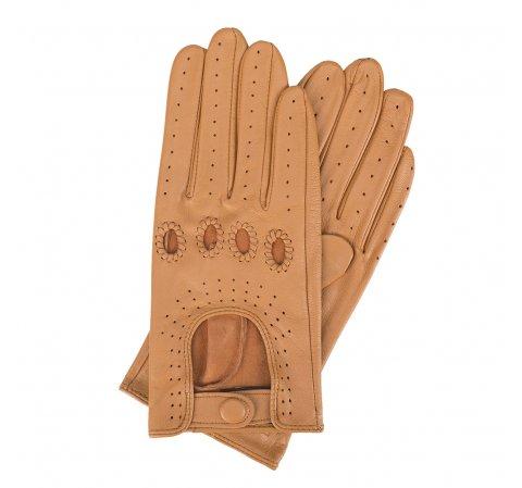 Rękawiczki damskie, jasny brąz, 46-6-275-LB-V, Zdjęcie 1