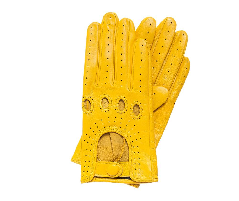 Перчатки женскиеЖенские автомобильные перчатки выполнены из высококачественной натуральной кожи.<br><br>секс: женщина<br>Цвет: желтый<br>Размер INT: S<br>вид:: автомобильные<br>материал:: Натуральная кожа