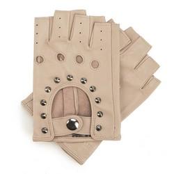 Rękawiczki damskie, jasny beż, 46-6-303-6A-M, Zdjęcie 1