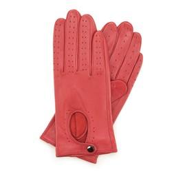 Damskie rękawiczki skórzane samochodowe, czerwony, 46-6-304-2T-M, Zdjęcie 1