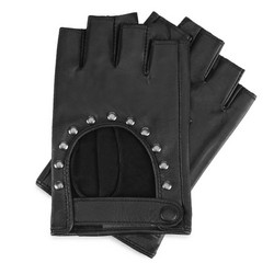 Women's cut off finger gloves, black, 46-6-306-1-S, Photo 1