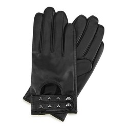 Leather studded driving gloves for women, black, 46-6-307-1-L, Photo 1