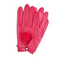 Rękawiczki damskie, zgaszony róż, 46-6L-290-2P-M, Zdjęcie 1