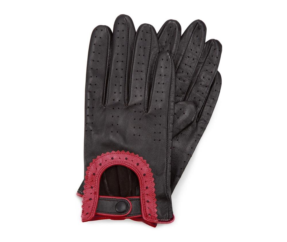 Перчатки женские Wittchen 46-6L-292-12T, черно-красныйПерчатки женские Wittchen 46-6L-292-12T, черно-красный<br><br>секс: женщина<br>Цвет: черный<br>Размер INT: S<br>материал:: Натуральная кожа